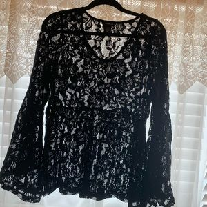 Torrid Lace Top with Bell Sleeves